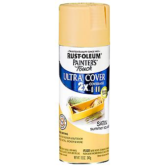 Painter's Touch Ultra Cover Satin Aerosol Paint 12 Ounces Summer Squash Ptucs249 064