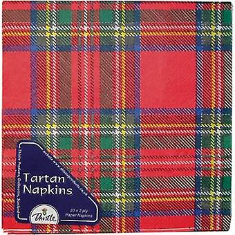 Royal Stewart Tartan Paper Napkins - 3 ply - Pack of 20
