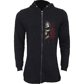 Spiraal directe gotische GAME OVER - Mens Fish Tail rits Hoody - Zip mouwen | Reaper | Schedels | Dood | Tribal