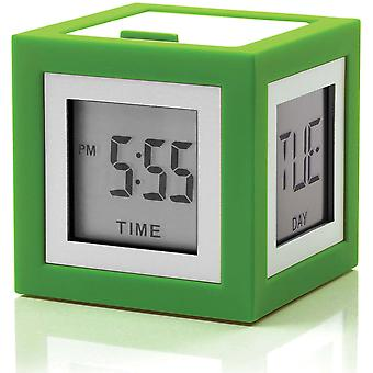 LEXON Cubissimo Green digitale bed Wekker