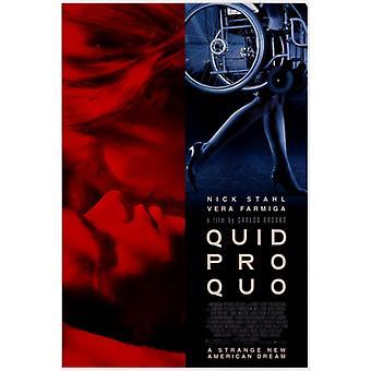 Quid Pro Quo Movie Poster stampa (27 x 40)