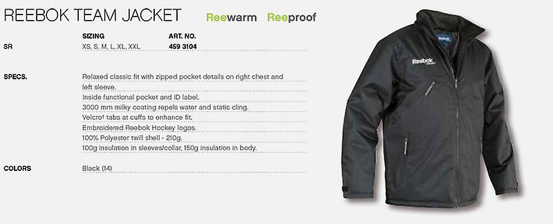 Reebok team jacket black senior