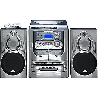 Sistema de audio Karcher KA 5300 CD, cinta, AM, giradiscos, FM, plata