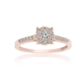 0.3 Carats T.W Diamonds 4-Prongs Engagement Ring (0.3 Cttw, G-H Color, SI1-SI2 Clarity)