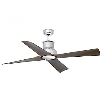 Faro energy-saving LED ceiling fan Winche chrome IP44