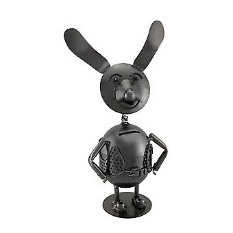 Springy Bobble Head Dog Polished Metal Coin Bank