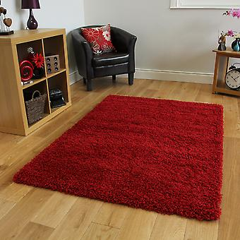 Wine Red Christmas Shaggy Rug Ontario