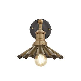 Brooklyn Vintage antik Sconce væg lampe - paraply - messing - 8