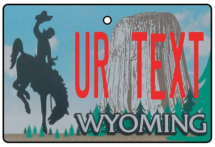 Personalised Wyoming Numberplate Car Air Freshener