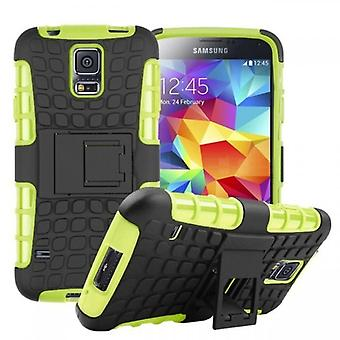 Hybrid case 2 piece SWL outdoor green for Samsung Galaxy S5 neo SM G903F