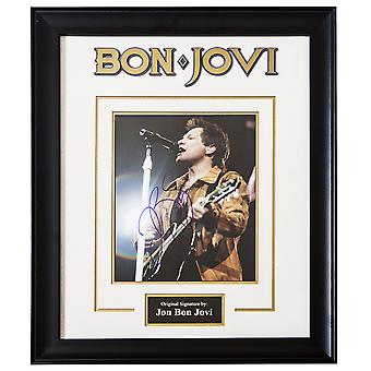 Jon Bon Jovi Signed Picture Poster in Framed Case