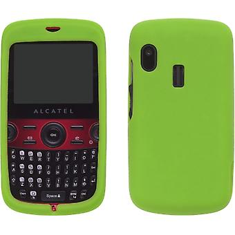 Silicone Gel Case for Alcatel OT-800 One Touch Tribe - Grasshopper Green
