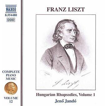 F. Liszt - Liszt: Hungarian Rhapsodies, Volume 1 [CD] USA import