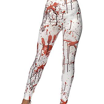Damen Halloween Blut Horror Leggins