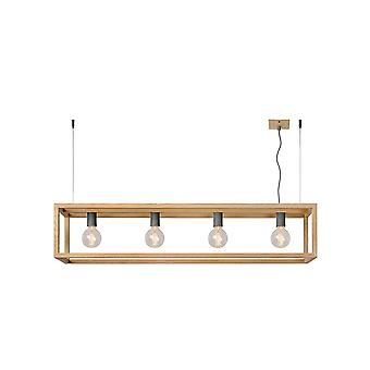 Lucide ORIS Timber Pendant 4 Light Island Bar