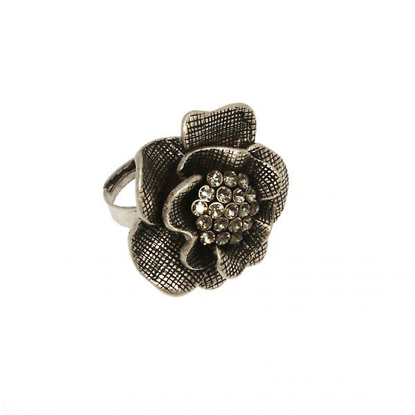 W.A.T Swarovski Crystal Flower Ring