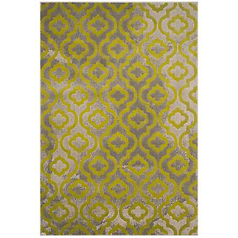 Woven Rug short-pile carpet living room Pacific Evergreen gray-green 92 x 152 cm