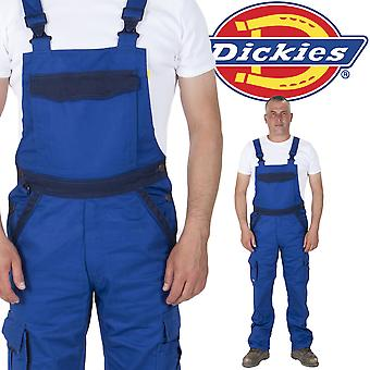 Dickies - Bib and Brace Dungarees - Royal / Navy Mens Work Overalls Dungarees