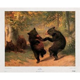 Dancing Bears Poster Print by William Beard (17 x 14)