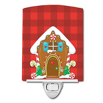 Carolines Treasures  BB8779CNL Christmas Gingerbread House Ceramic Night Light