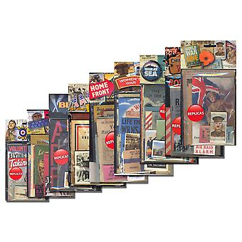 Collection of 9 Wartime Replica Memorabilia Packs