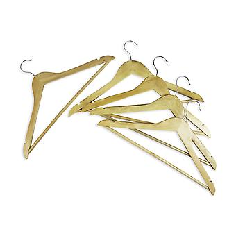 Coat Hanger Wood Adult Clothes Trouser Hangers with Chrome Hook and Non Slip Bar