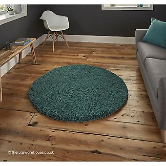 Vista Teal Blue Circle Rug