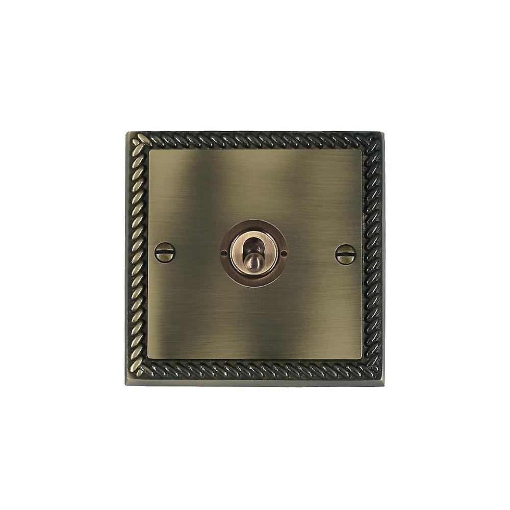 Hamilton Litestat Cheriton Georgian Antique Brass 1g 10AX PTM PTB Ret Toggle AB