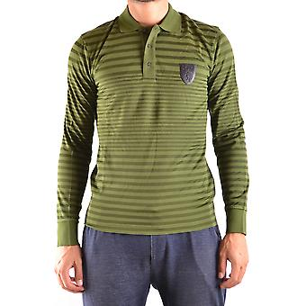 Bikkembergs men's MCBI097057O green cotton polo shirt