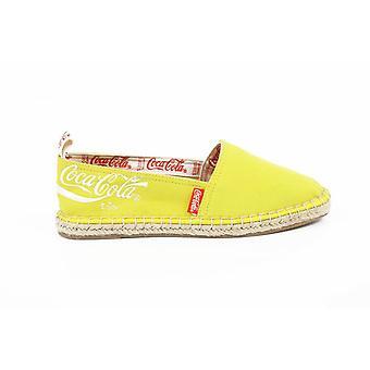 Coca Cola ladies yellow summer espadrilles