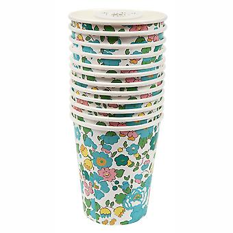 MERI MERI Liberty Green Betsy Cups (12 Pack)