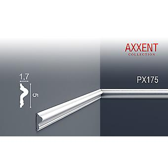 Wall and frieze Strip ORAC decor PX175 AXXENT white trim stucco Strip modern design 2 m