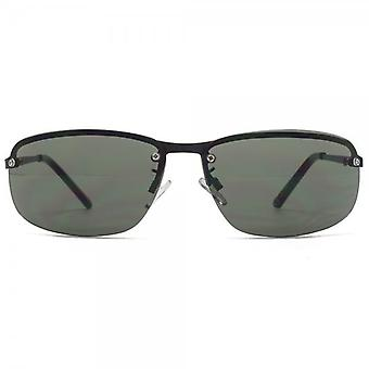 Fenchurch Half Rim Sunglasses In Matt Black