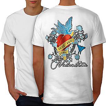 Love Gay Pride Men WhiteT-shirt Back | Wellcoda