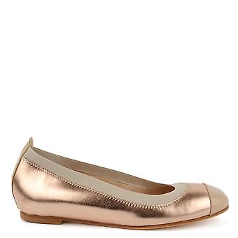 Elia B Shoes Bananas Rose Gold Ballet Pump