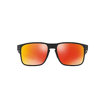 Oakley Holbrook Metal Sunglasses In Matte Black Ruby Prizm