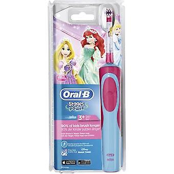 Electric toothbrush (children) Oral-B Stages Power Princess Rotating/vibrating Multi-coloured