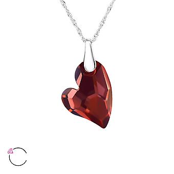 Heart crystal from Swarovski® - 925 Sterling Silver Necklaces