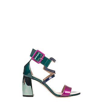 Marc Ellis ladies MA3048GREEN green leather sandals