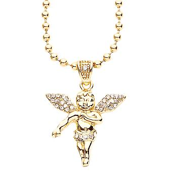 Iced out bling fashion chain - MICRO Angel gold