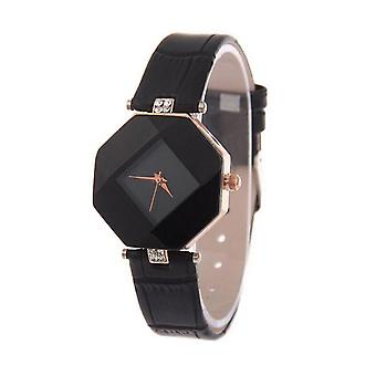 Smart Diamond Shape Watch Black Jewel