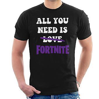 Todo lo que necesitas es amor camiseta No Fortnite hombres