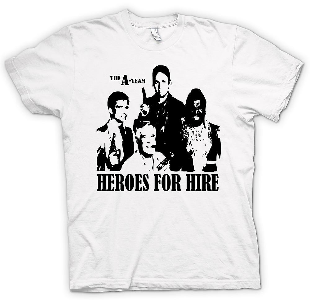 Heren T-shirt - een Team helden - Retro - Movie 0s - Tv