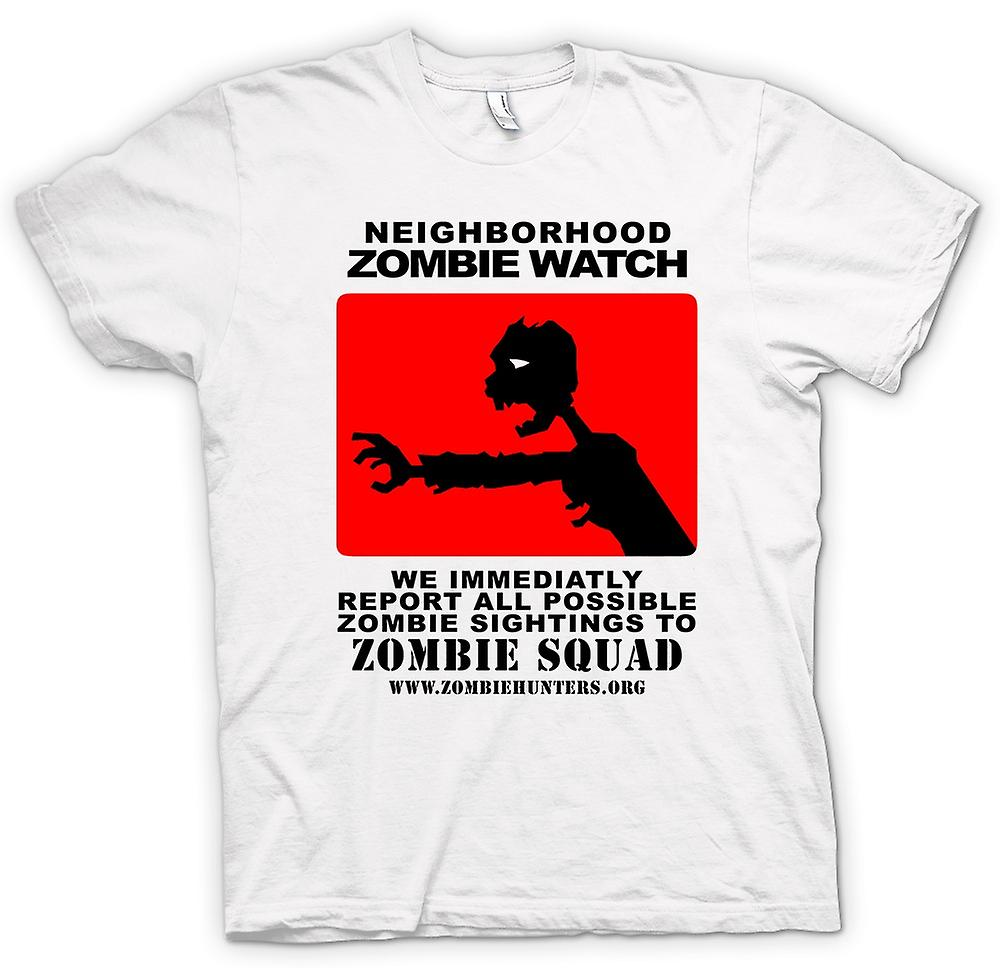 Hommes T-shirt - Zombie Neighborhood Watch - Drôle