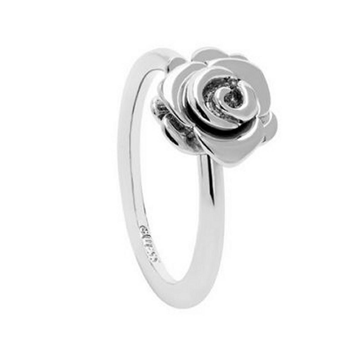 Guess Damen Ring Edelstahl Rose silber UBR28504