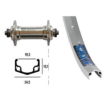 Bike parts 28″ front wheel Rigida Cyber 10 + standard aluminium hub (QR)