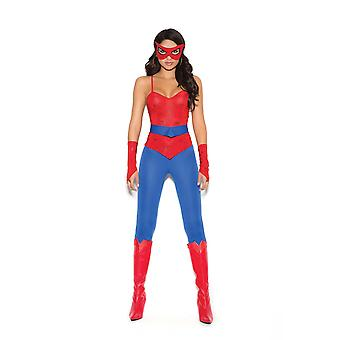 Elegant Moments Womens Spider Girl Super Hero Halloween Roleplay Costume