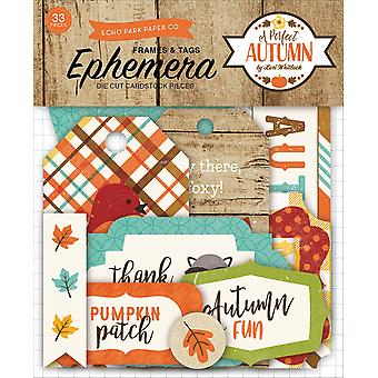 A Perfect Autumn Ephemera Cardstock Die-Cuts-Frames & Tags