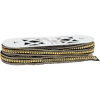 Faux Leather Belting W/Studs & Chains Trim 7/8