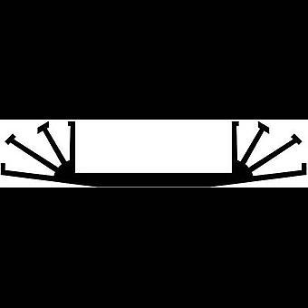 Heat sink 3.5 C/W (L x W x H) 100 x 70 x 15 mm Fischer Elektronik SK 07 100 SA